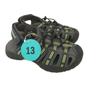 Khombu Dillon Youth Boys Sport Sandal Shoe Size US 13 Grey Navy Lime New NWT