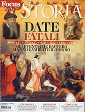 Focus Storia 2017 134.Date Fatali,Chaplin,Lautrec,Carlo Martello,Renier Zeno