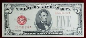 1928-F $5 United States Note KL# 1645