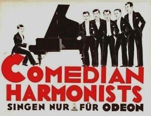 Original vintage poster COMEDIAN HARMONISTS SINGING c.1928
