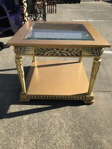 Square Glass Top Coffee Table