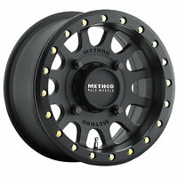 4/156 Method Race Wheels 401 Beadlock Wheel 15x7 4.0 + 3.0 Matte Black