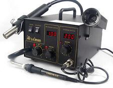 852D Soldering Rework Station Solder Iron SMD Hot Air Gun DC Power Supply Welder