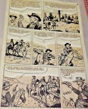 HECTOR HERNANDEZ ORIGINAL ART PAGE WESTERN COMIC ARGENTINA 50s ED LAINEZ