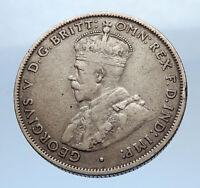 1931 AUSTRALIA - COAT OF ARMS Silver Florin UK King George V Coin i69367