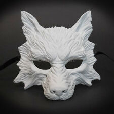 Wolf Animal Masquerade Mask, Men's Masquerade Mask, Halloween White Ball Mask