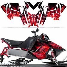 RUSH RMK Decal Wrap Graphic Kit Sled Snowmobile Polaris 600/800 2011+ ICE RED