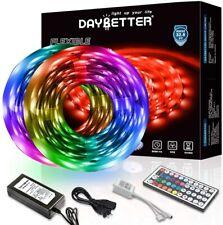 Daybetter Led Strip Lights 32.8Ft 10M With 44 Keys Ir Remote And 12V Power Suppl