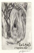 Erotic Ex Libris A. Leprince : J. Rasdolsky