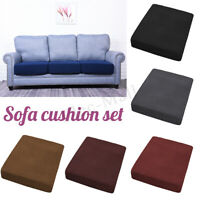 Fabric Slip covers Protector Replacement Sofa Seat Cushion Cover Couch Stretchy