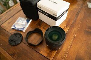 EUC Sigma 24mm f/1.4 DG HSM Art Series Camera Lens For Nikon F Mount