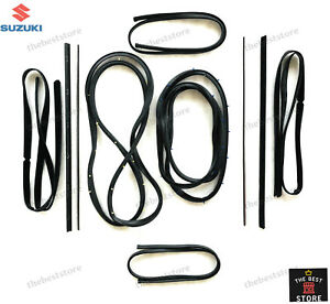 OEM SUZUKI SAMURAI SJ410 SJ413 DOOR WINDOW GLASS TRIM MOLDING SEAL GARNISH KIT