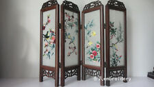 Doll Furniture Large Size Chinese Handmade Silk Embroidery Screen 4 ~ 1:4 Scale