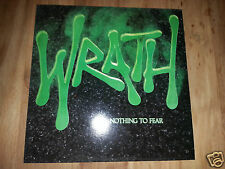 Wrath-Nothing To Fear-RARE vinile LP 1987 Holland - * Excellent * - thrash