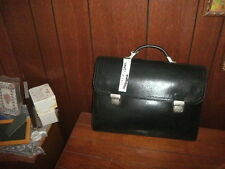ALESSANDRO VENANZI LEATHER CONTINENTAL BRIEFCASE DOUBLE BUCKLE style #8969 NEW