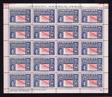 LIBERIA # C69 {1952} 50c MNH sht of 20 Grade XF {Inverted Center w/color shift}
