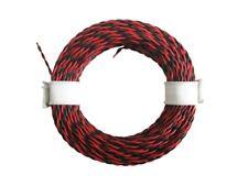 10m Ring Zwillingslitze 2x 0,04mm² rot / schwarz gedrillt Litze LIYV Doppellitze
