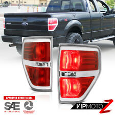 "09 10 11 12 13 14 Ford F-150 XLT Lariat ""FACTORY LOOK"" Red Rear Tail Lights SET"