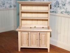 Kitchen / Dining Room Bare Wood Dresser, Dolls House Miniature Furniture