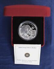"2008 Canada argent Preuve $1 coin ""Québec 400th Anniv"" en cas Avec COA (A2/4)"