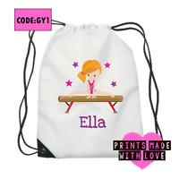 Gymnastics bag / gymnast / PE bag / Personalised / gym / pump bag