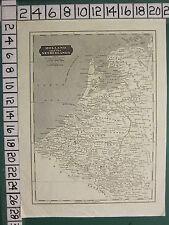 c1836 VICTORIAN MAP ~ HOLLAND & THE NETHERLANDS UTRECHT AMSTERDAM GELDERS MEUSE