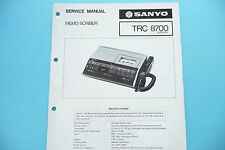 Service Manual-Anleitung für Sanyo TRC 8700  ,ORIGINAL