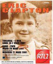 PUBLICITE ADVERTISING  2001   RTL2 radio  ERIC CLAPTON en concert