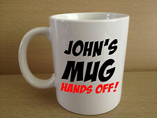 Personalised Hands Off Mug - Gift Ideas For Men Women, Funny Men's Women's Gifts