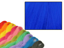 CYBERLOXSHOP PHANTASIA KANEKALON JUMBO BRAID NEON BLUE HAIR DREADS
