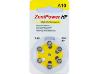Zenipower Hearing aid Battery size 10  Six Batteries