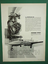 7/1969 PUB SWEARINGEN AIRCRAFT SAN ANTONIO TEXAS MERLIN IIB FRENCH AD