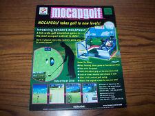 Konami Mocap Golf Video Arcade Game Flyer Brochure 2002