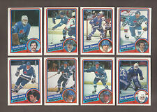 1984-85 OPC QUEBEC NORDIQUES Lot of 17 Nrmt-MT NHL O-Pee-Chee Hockey Cards