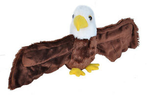 HUGGERS PLUSH EAGLE SLAP BRACELET STUFFED ANIMAL BY WILD REPUBLIC