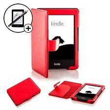 Pelle Rosso custodia Smart per Amazon Kindle 7th Generazione 2014 +