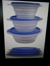 New SLIM STACKS Collapsible Bowl Food Storage Containers Camping Campers