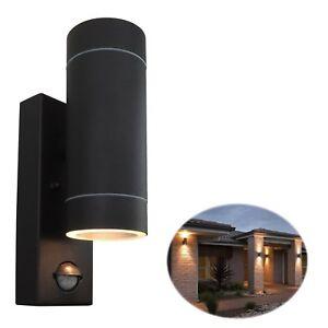 Security PIR Sensor Porch Outside Wall Doorway Patio House Garden Light - BLACK