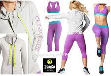 ZUMBA 3Pc.SET! INSTRUCTOR Jersey Cardigan Jumper Jacket +Capri Leggings +Bra Top