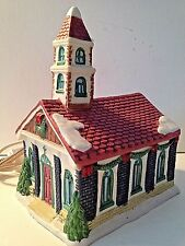 "TRIM A TREE 1994 ""CHURCH""- 8"" x 6 x 4 1/2""""-Illuminated With On/Off Switch"