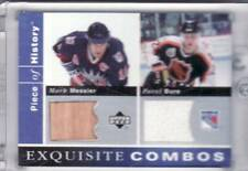 2002-03 MARK MESSIER/PAVEL BURE A PIECE OF HISTORY GAME USED DUAL GEAR