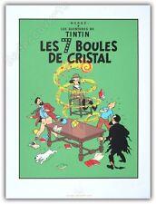 Affiche Sérigraphie Tintin Les 7 Boules de Cristal 60x80 cm