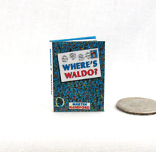 WHERE'S WALDO Miniature Book 1:12 Scale Dollhouse Book Colorful Illustrated