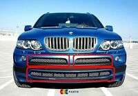 BMW NEW GENUINE X5 E53 03-06 SPORT FRONT TITAN BUMPER GRILL MESH SET OF THREE