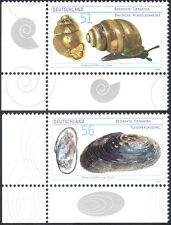 Allemagne 2002 Moule/Escargot/mollusques/coquillages/Nature/conservation 2 V Set (n18818)