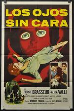 EYES WITHOUT A FACE / LOS OJOS SIN CARA 1961 ORIGINAL 27X41 1-SHEET MOVIE POSTER