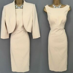 VENI INFANTINO Dress Suit Size 12 Almond Mother Of The Bride BNWT