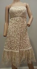 Sue Wong Nocturne Creme Beaded Lace Cocktail Gatsby Party Dress 6