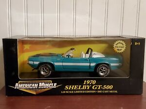 Ertl American Muscle 1970 Shelby Cobra GT-500 1:18 Color Diecast Car Exclusive