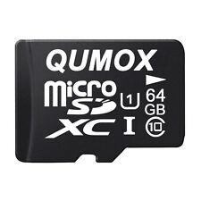 Qumox 64GB Class10 Micro SD XC Uhs-i-speicherkarte mit Adapter